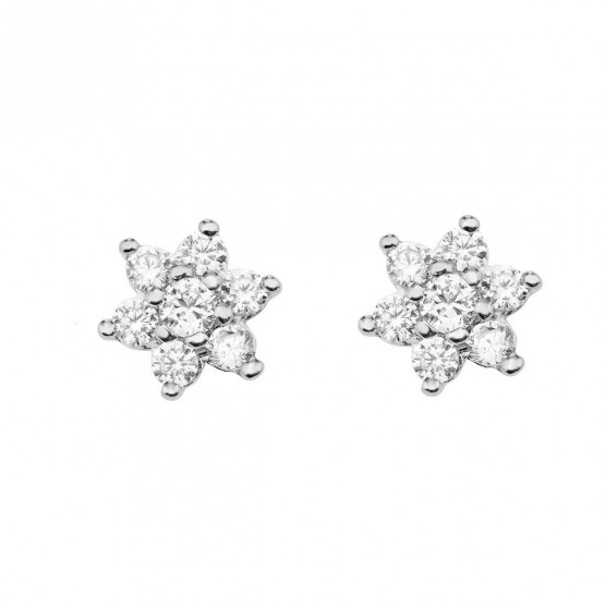 Pendientes de novia con 14 diamantes (75B0011)