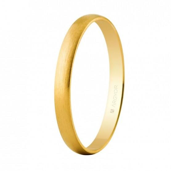 Alianza boda oro amarillo 2,5mm satinada (50253S)