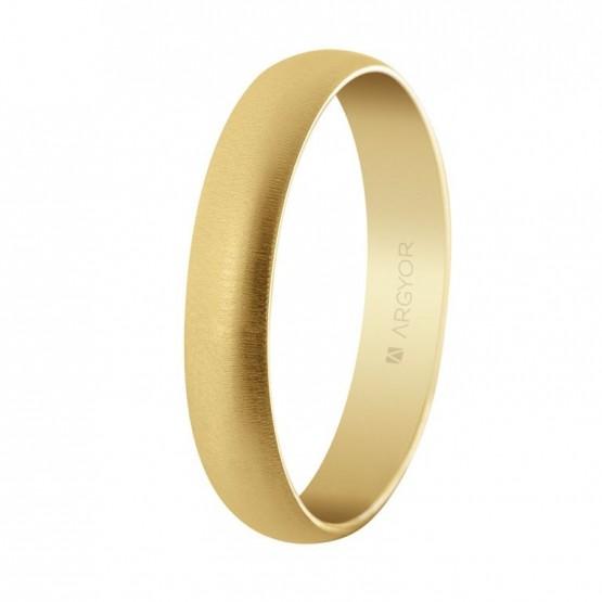 Alianza de boda oro 4mm texturizada (50405T)
