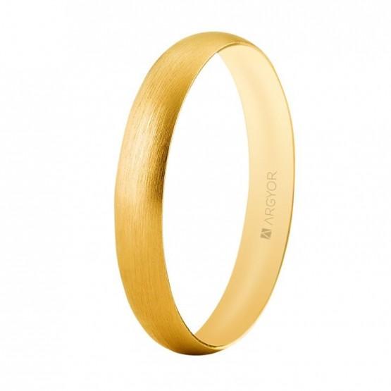 Alianza boda oro satinada confort 3,3mm (5135513S)