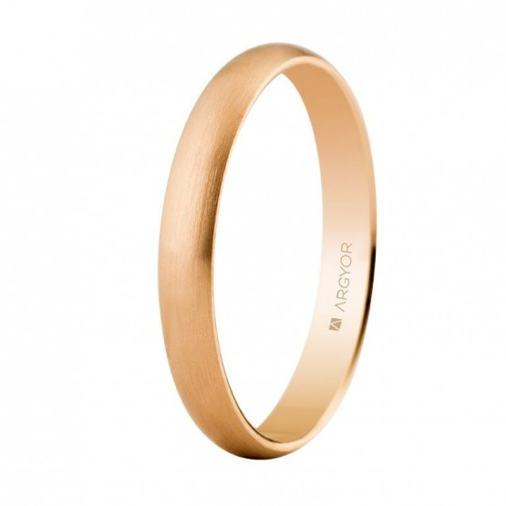 Alianza de boda oro rosa 3mm satinada (5C305S)