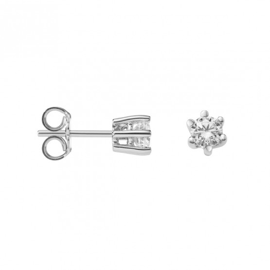 Pendientes de Diamantes en oro blanco 18k (75B0102)