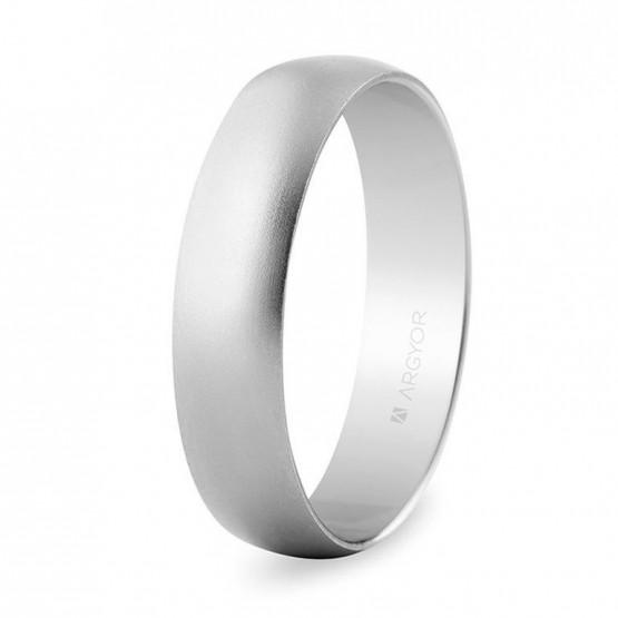 Alianza de boda oro blanco de 5mm arena (5B505M)