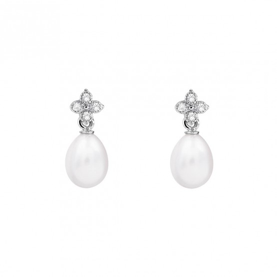 Pendientes para novia en plata y perlas (79B0100TE1) 1