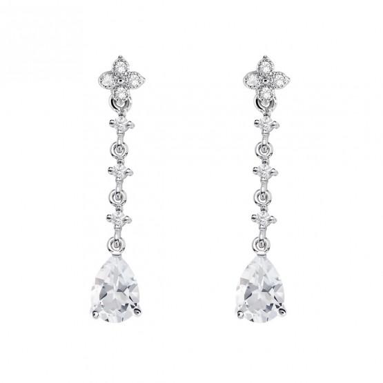 Pendientes de plata para novias con topacio (79B0103TA1) 1