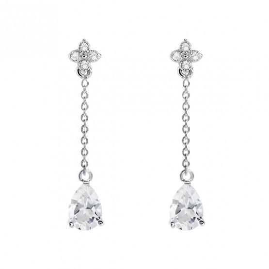 Pendientes de novia en plata y topacios cadena (79B0107TA1) 1