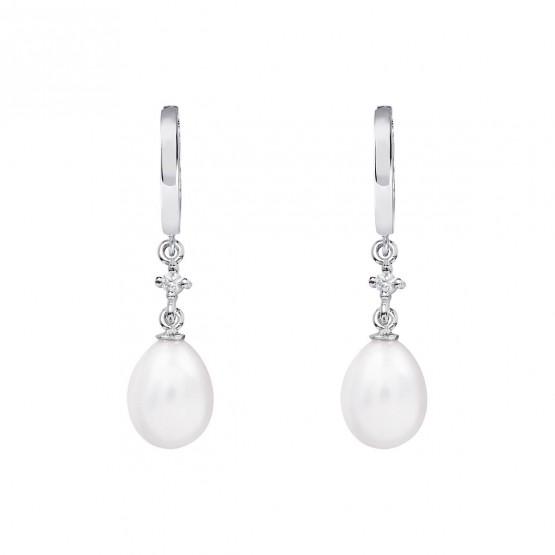 Pendientes para novia en plata y perlas (79B0301TE1) 1