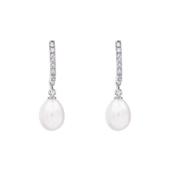 Pendientes para novia en plata y perlas (79B0500TE1) 1