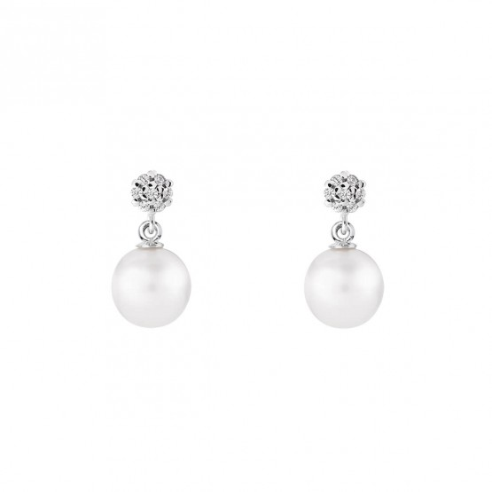 Pendientes de novia de oro blanco de18k con perlas (79B0600TD1) 1