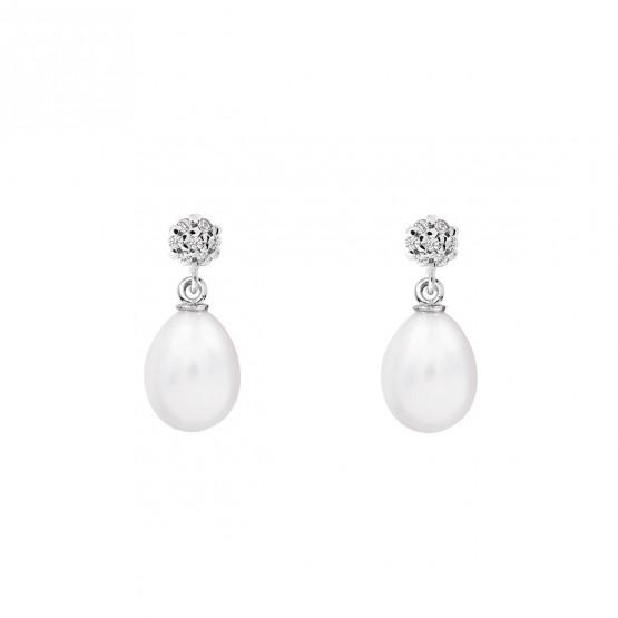 Pendientes para novia en plata y perlas (79B0600TE1) 1