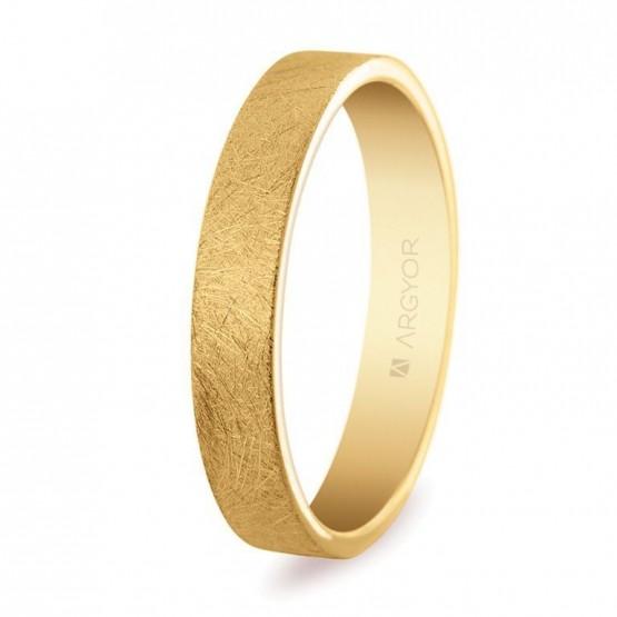 Alianza de oro plana 4mm hielo (5140150H)