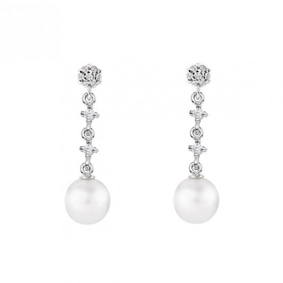 Pendientes de novia en oro blanco de18k y perlas (79B0602TD1) 1