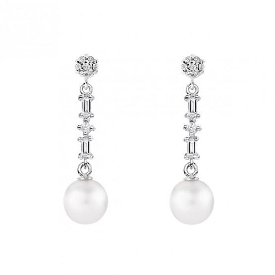 Pendientes de novia plata con topacio y perlas (79B0606TD1) 1