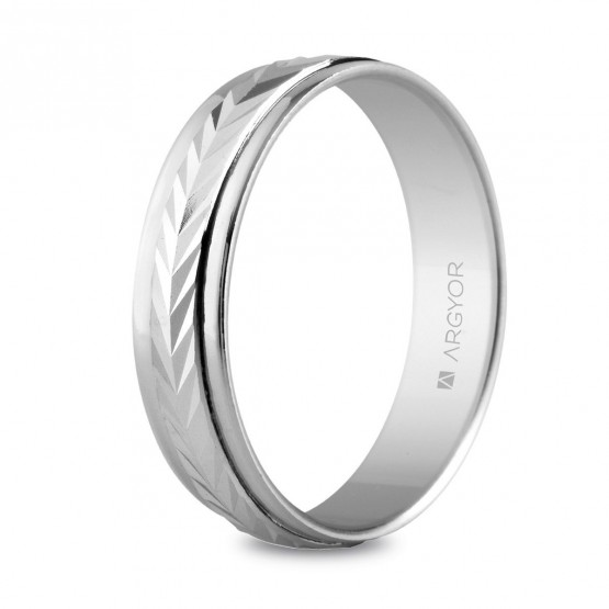 Alianza de plata diseño facetado en espiga 5 mm (5750283)
