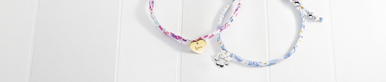Pulseras de hilo para mujer con charms de oro y plata | Argyor.es